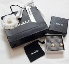 earrings malaysia luxurycometrue chanel cc logo pearl earrings0 rm 870