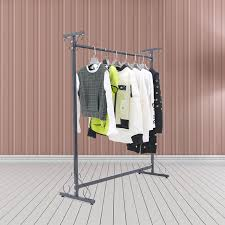 iron clothing store display racks on wall pendant women kids shelf iron clothes
