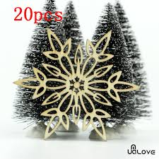 20x christmas snowflake wooden xmas tree blanks craft tags hanging