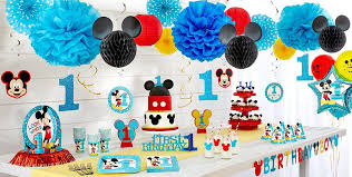 mickey mouse chair covers mickey mouse 1st birthday party supplies party city