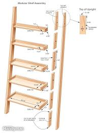 Building Solid Wood Bookshelf by Best 25 Leaning Ladder Shelf Ideas On Pinterest Leaning Shelves