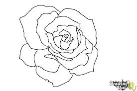 easy outlines easy rose drawing outline step by step 4k wallpapers