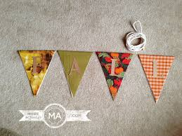 no sew fall pennant banner made actually