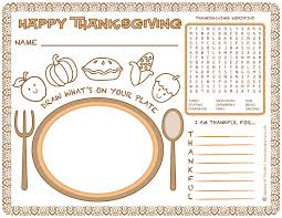 printable placemat color thanksgiving u2013 happy thanksgiving