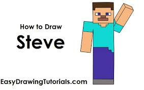 draw steve minecraft