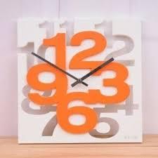 Orange Wall Clock Foter