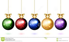colorful balls with snowflake ornament stock vector