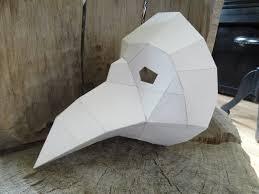 Masks For Halloween Printable Diy Halloween Mask Plague Doctor Mask Paper Bird Mask Crow