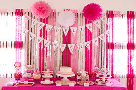 ruffled streamers sweet shoppe party is 1 streamers pink white and buntings