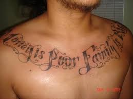 is poor family is rich on chest tattooshunt com