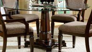 table round wooden dining table beautiful round glass dining
