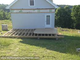 tips ground level deck building a deck on uneven ground pool