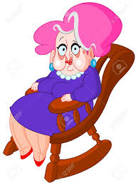 A Rocking Chair Old Lady Sitting On A Rocking Chair Royalty Free Cliparts Vectors