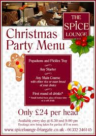 set menus the spice lounge