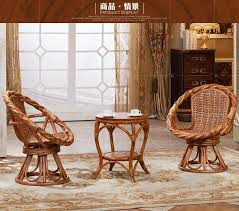 Rattan Settee Degree Rotation Rattan Sofas Tea Table Set 2 Cane Chair 1 Table