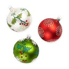 festive holly ornament set moma design store