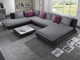 house canape d angle canapé d angle en pu noir et tissu gris duccio 5 canapé