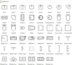 floor plans for bathrooms floor plan symbols