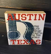 Music Decor by Austin Texas Guitar Art Print Austin Live Music Print Music Gift