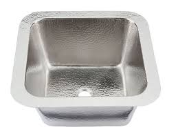 polished nickel bar sink thompson traders hammered nickel picasso bar prep sink with drain
