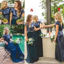 blue sequin bridesmaid dress discount bohemian junior bridesmaid dresses 2017 bohemian junior