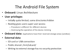 android file system the android file system onboard linux architecture user