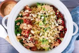 easy pasta salad easy bacon avocado summer pasta salad love and risotto