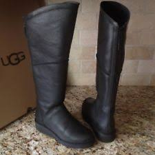 womens black knee high boots size 11 ugg kendi black knee high slim leather wedge boot us 10 ebay
