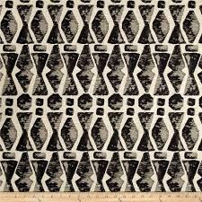 Black And White Valances Black Medium Weight Linen Fabric Com