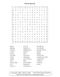 s word search puzzles thanksgiving