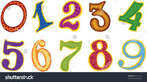 set cartoon color numbers stock vector 71621116 shutterstock