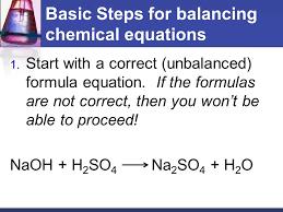 basic steps for balancing chemical equations