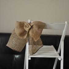 Burlap Chair Sash Wedding Aisle Decor Burlap Chair Sashes Inspired4u