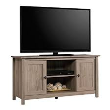 amazon com sauder 417772 tv stand furniture salt oak kitchen