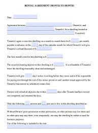 Free Residential Lease Agreement Templates Free California Month To Month Lease Agreement Pdf Word Doc