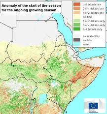 africa map 2014 early warning of possible drought in the greater horn of africa