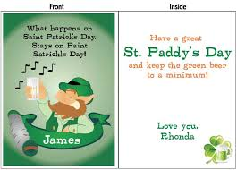 personalize giant st patrick u0027s day cards online