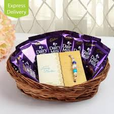 chocolate basket delivery chocolate basket of