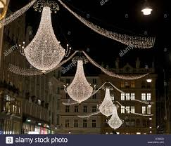 der graben chandeliers christmas chandeliers hang high above his