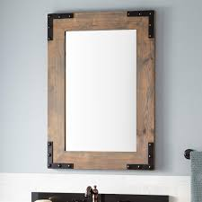 Wood Mirrors Bathroom Bonner Reclaimed Wood Vanity Mirror Gray Wash Pine Bathroom