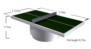 ping pong table dimensions inches dimensions of outdoor table tennis tables