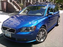blue volvo station wagon volvo v50 review and photos
