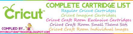 Cricut Craft Room - my cricut craft room 889 all cricut cartridge checklist