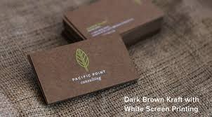 brown kraft business cards from jukeboxprint