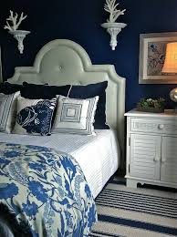 bedroom blue wall panels bedroom beach style with blue and white