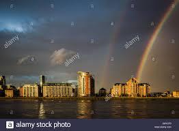 uk 1st july 2016 uk weather colourful rainbow breaks