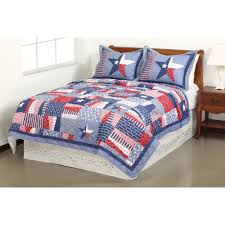 American Flag Bedding Mainstays Quilt Collection Stars And Stripes Walmart Com
