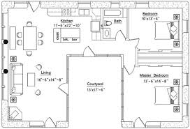 U Shaped House Plans With Courtyard U Shaped Kitchen House Plans Video And Photos Madlonsbigbear Com