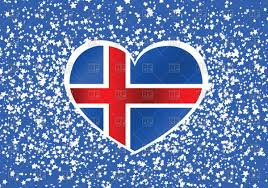 Flag Iceland Heart Shaped Flag Of Iceland Design For Souvenirs Royalty Free