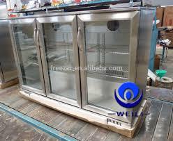 beverage cooler with glass door 338l 3 triple glass doors stainless steel beer bar fridge cooler